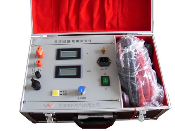 根据电力设备预防性试验规程要求,各种开关设备的导电回路电阻测量是常规的试验项目之一,其试验电流不得小于100A。仪器测试电源采用直流恒流电源作测验电源,测试电流无需手动调节,根据不同的仪器型号测试电流可达100A、200A、400A、600A,并且恒流电源设计较高的开口电压,使用较细截面的测试线即可满足测试要求,仪器测试过程由单片机控制自动完成,可快速准确测量开关设备、GIS母线的回路电阻。